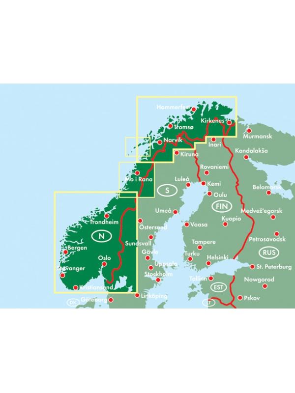 Norsko - mapa