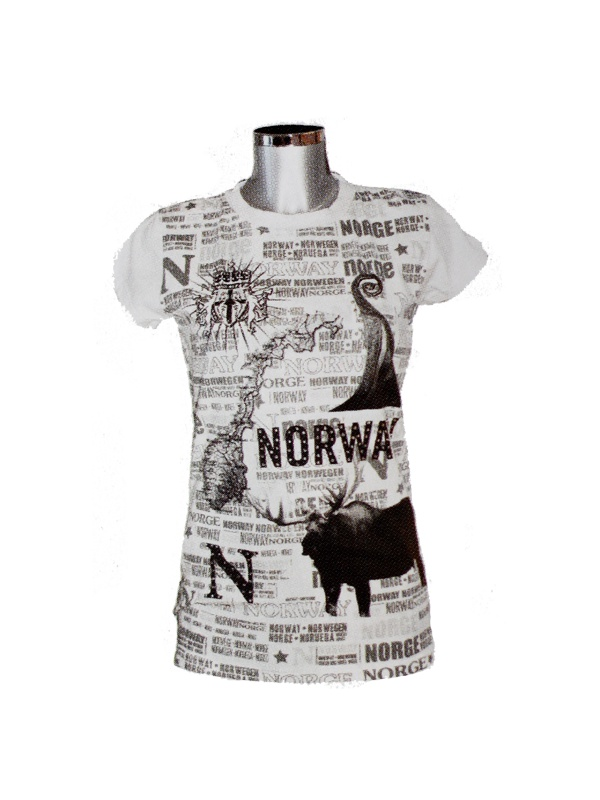 Tričko Norway bílé, dámské
