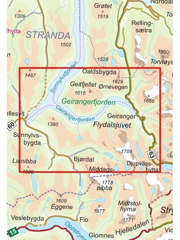 Romsdalsfjella Nord detail