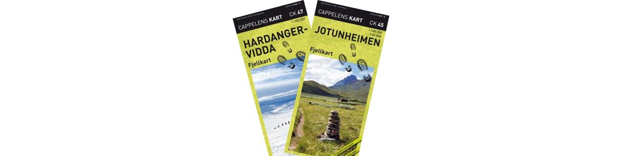 Turistické mapy Norsko